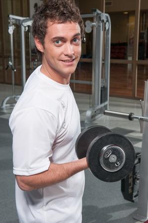 20 30 years: Man llifting weights