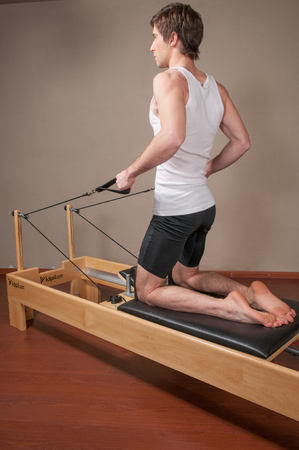 Man working with his body