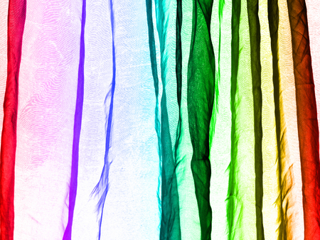 voile: Voile curtain background rainbow colors Stock Photo