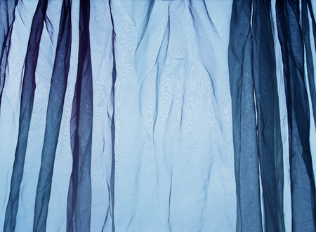 voile: Voile curtain background blue