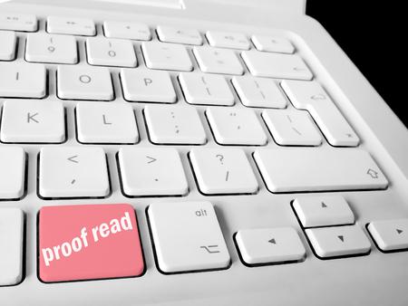 schoolwork: Proofread keyboard key