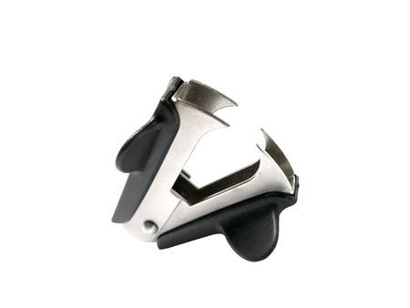 staple: Staple remover isolated on white