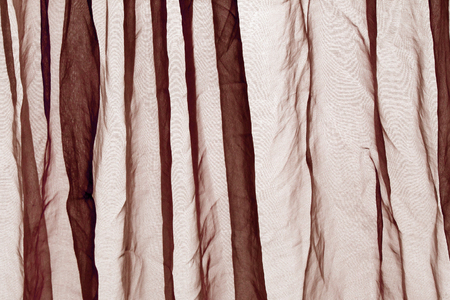 voile: Voile curtain background brown Stock Photo