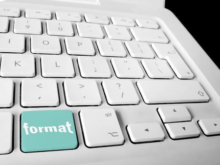Tecla del teclado de formato Foto de archivo