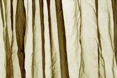 voile: Voile curtain background olive color Stock Photo