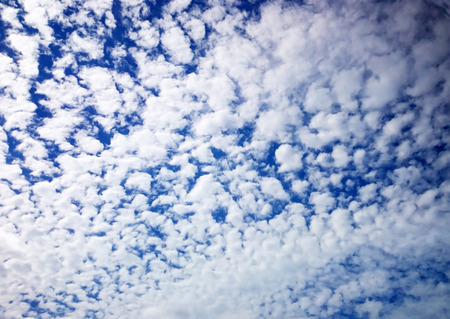 cloud formation: Scattered cloud formation in a blue sky