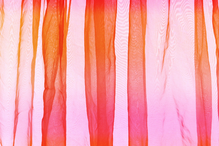 voile: Voile curtain pink orange background