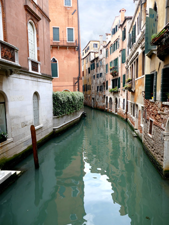 venezia: Canal of Venice, Venezia, Italy, Europe on a cloudy day Stock Photo