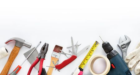 do it yourself tools against white background