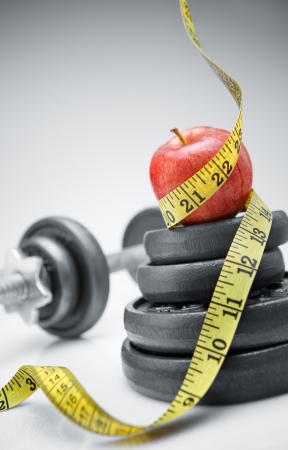 lost your weight with healthy eating and exercise Stock Photo - 4093561
