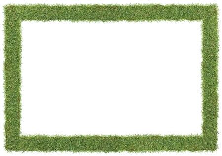 frame and borders form by green grass Stock Photo - 4403292