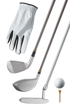 golf club: golf equipment, isolated, can be used individually