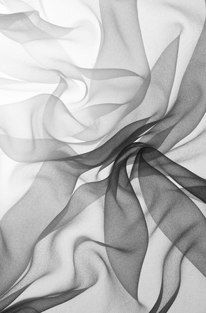 soft black chiffon with curve and wave Stock Photo