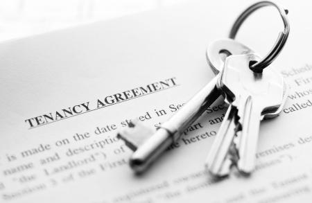 set of new keys on a tenancy agreement Stock Photo - 4754923