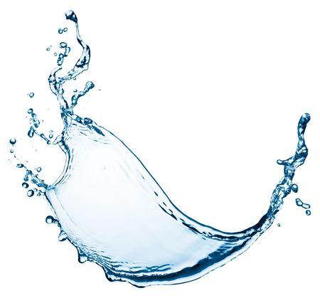 fresh water splash: blue color water splash isolated on white background