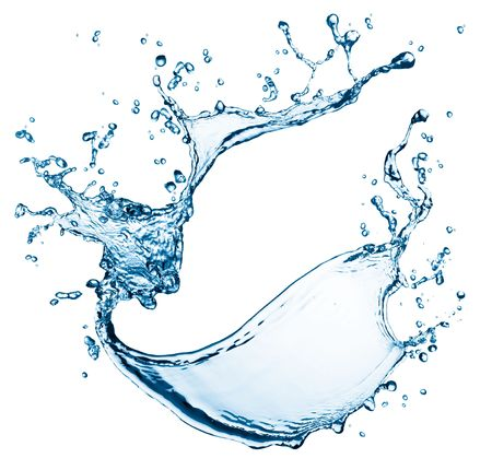 blue water splash isolated on white background Stock Photo - 5130913