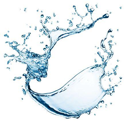 blue water splash isolated on white background Stock Photo - 5130913