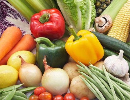 diferentes tipos de verduras frescas Foto de archivo - 5286778