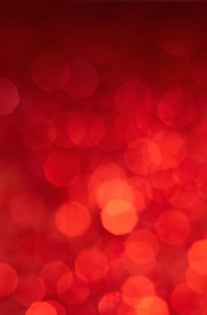 bokeh red color neon lights as background Stock Photo