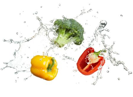 freshness of vegetables with water splash Stock Photo - 5709112