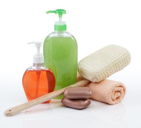 art�culos de perfumer�a: otro tipo de art�culos de tocador sobre fondo blanco