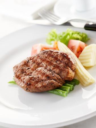 beef: deliciosa Solomillo de buey, superficial profundidad de campo