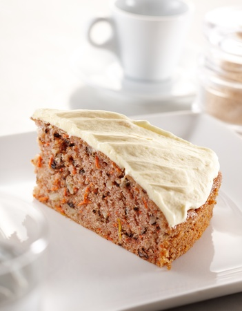 slice of carrot cheesecake, shallow depth of field photo