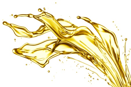 engine oil splashing isolated on white background Stock Photo - 10731133