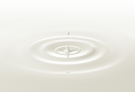 milk drop: milk or white liquid drop created ripple