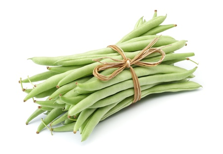bundles: bundle of green beans isolated on white
