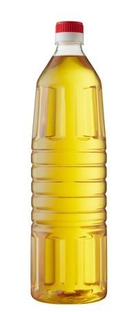 cooking oil: bottle of cooking oil isolated on white