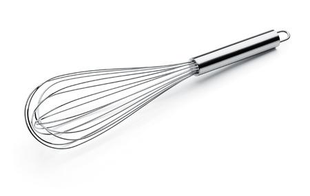 whisk: whisk or egg beater isolated on white