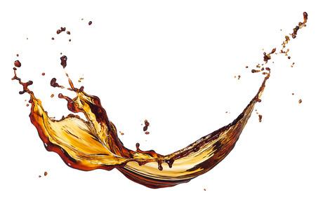 zwarte koffie splash geïsoleerd op witte achtergrond