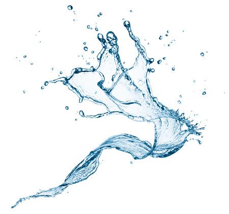 twisted water splash op een witte achtergrond Stockfoto