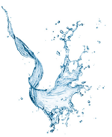 twisted water splash isolated on white background Banco de Imagens