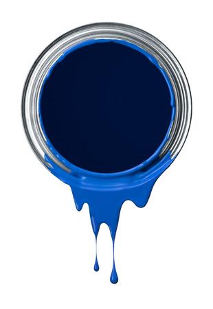 festékek: kék festék befejezte ömlött ón csöpög
