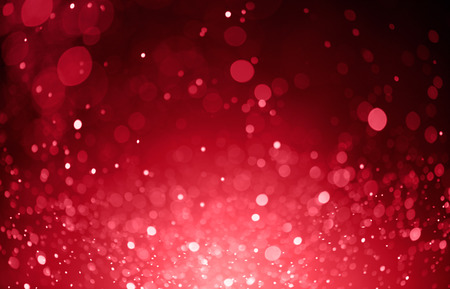 light red: red bokeh background created by christmas lights