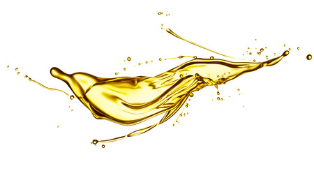 engine oil splashing isolated on white background Reklamní fotografie