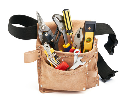 tools belt: various type of tools in tool belt