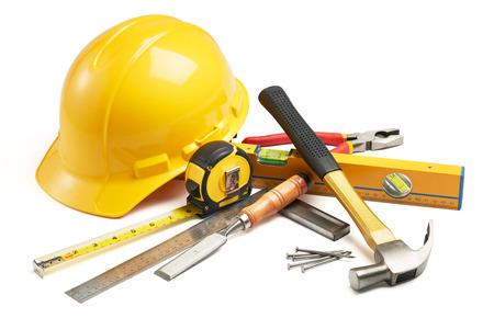 herramientas de carpinteria: diversos tipos de herramientas de carpinter�a en el grupo Foto de archivo