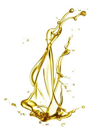 huile: huile moteur éclaboussures isolé sur fond blanc