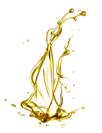 engine oil splashing isolated on white background Standard-Bild