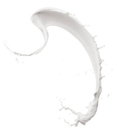 Curve milk splash isolated on white
