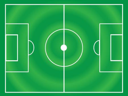 backdop: soccer or football field circle line vector Illustration