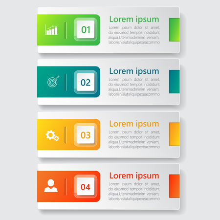 Infografika wektor projektu banera