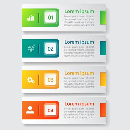 Vecteur de conception de bannière d'infographie