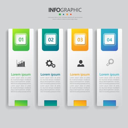 Infografica banner design vettoriale