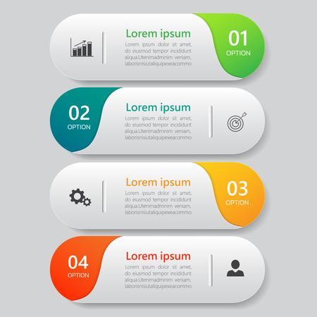 Infographics design template Vetores