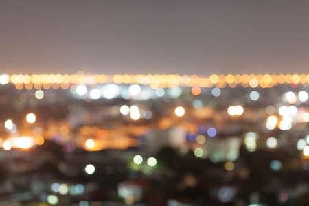 shinning light: Blurred Light Bokeh background in Bangkok City at Night.