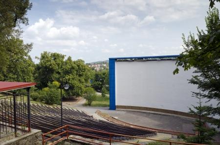 Outdoor Cinema in Boskovice, Czech Republic